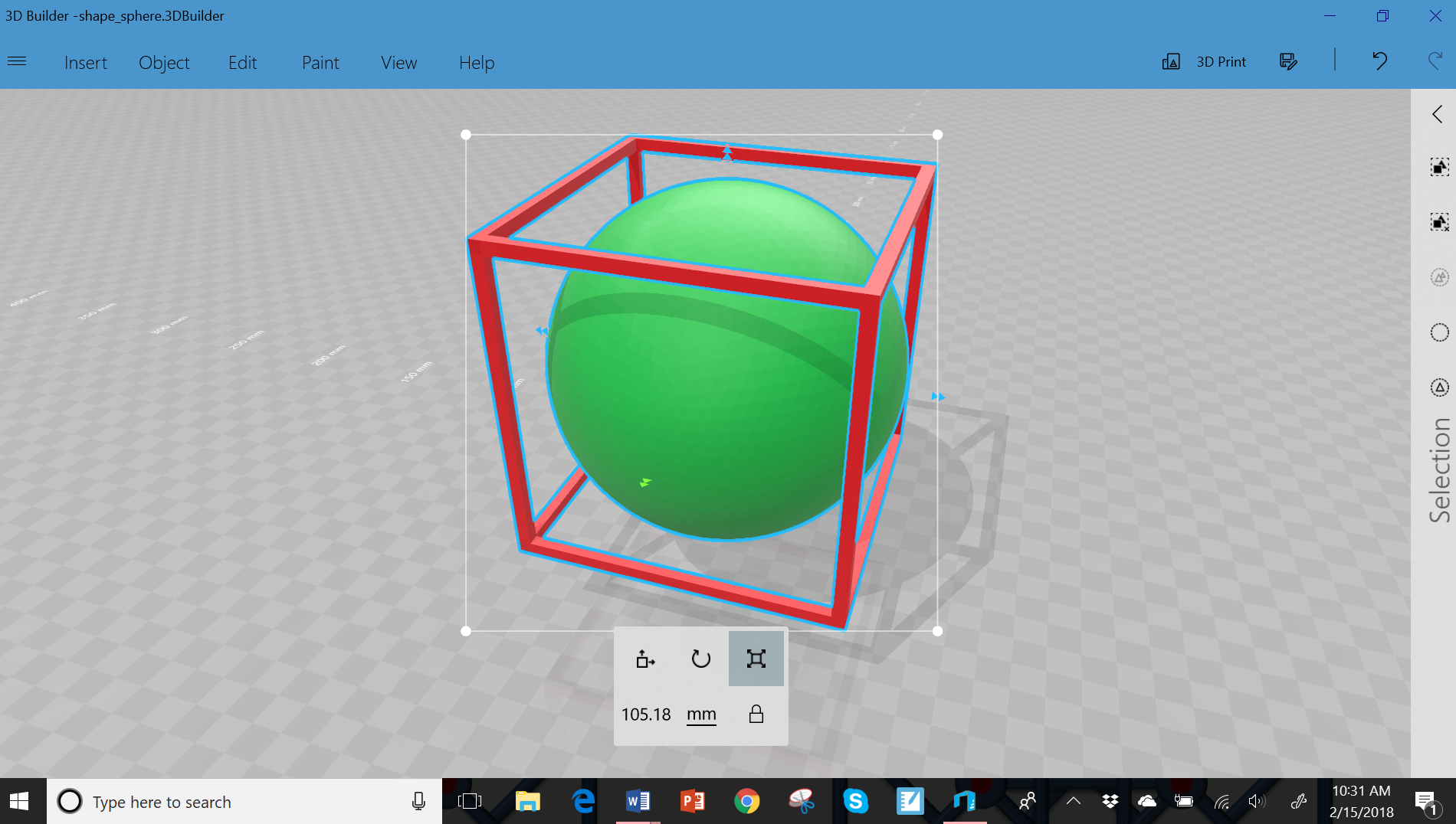 Kirk weiler emathinstruction already have one of these programs pre installed on your computer called 3d builder here is a screenshot of a recent ball in box design i finished fandeluxe Gallery